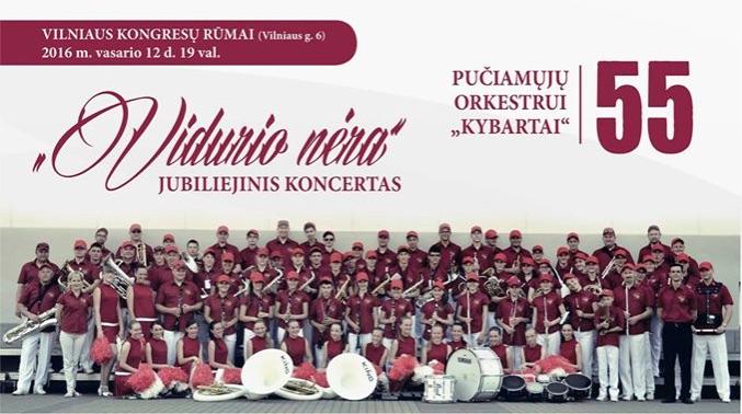 """Pučiamųjų orkestrui """"Kybartai"""" – 55"""